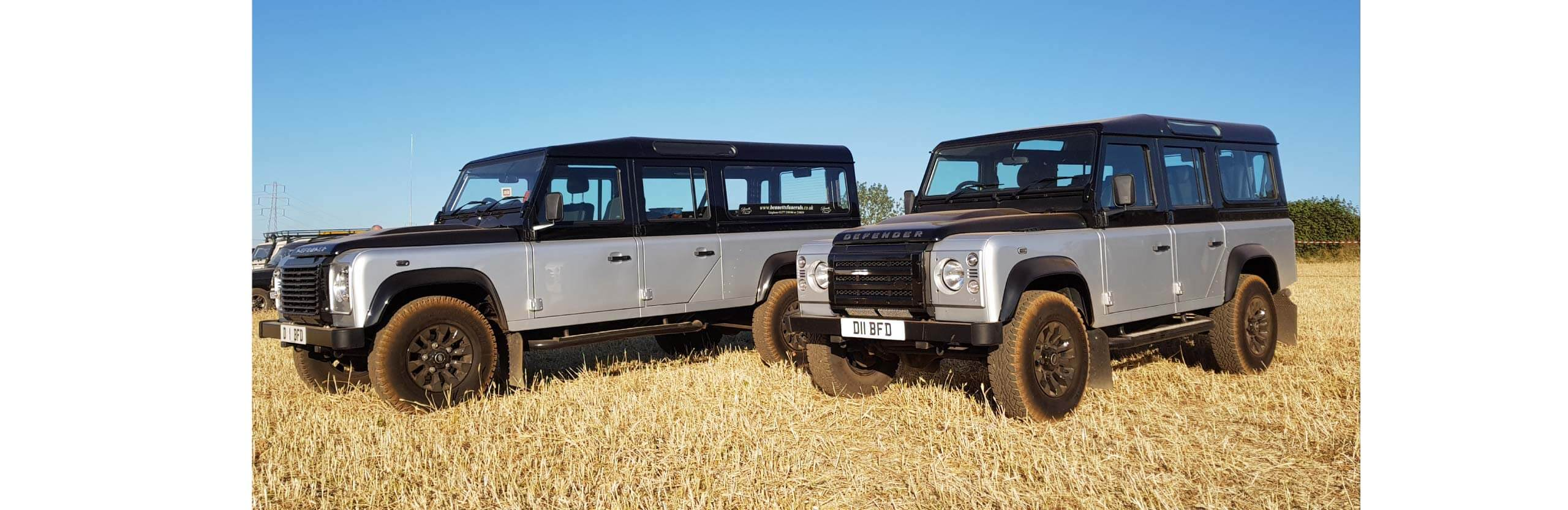 land rover funerals