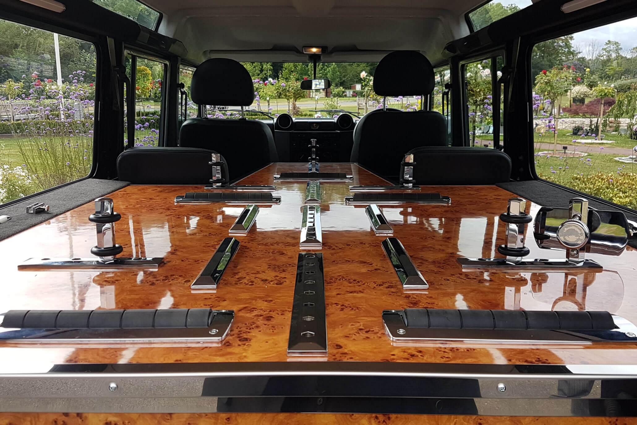 land rover 4x4 hearse hire