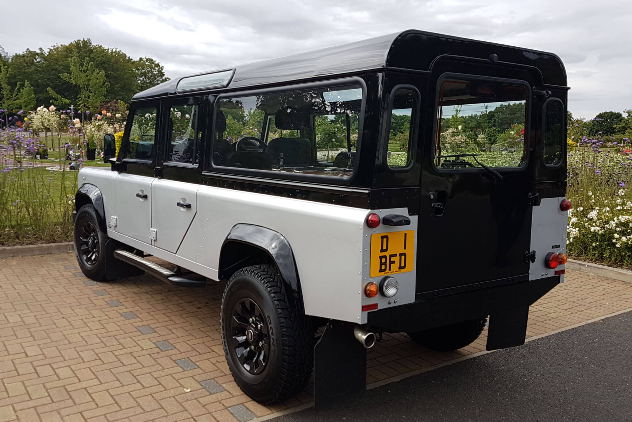 land rover funeral hearse